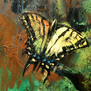 butterfly, Paul Abbott's mural