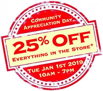 Community Appreciation Day - 25% off sale